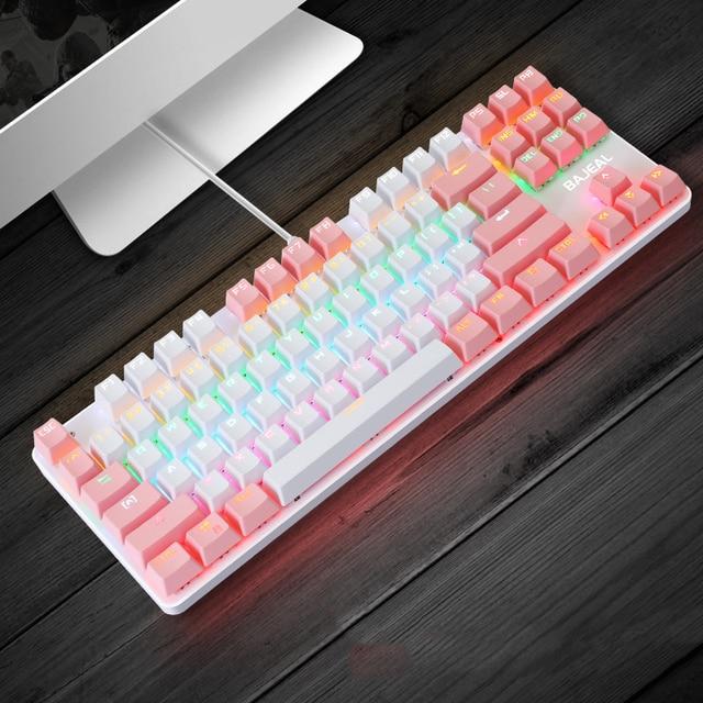 Teclado Mecânico Just Tech, 87 teclas, switch Red anti-ghosting, com fio, iluminação RGB para pc gamer e notebook 5