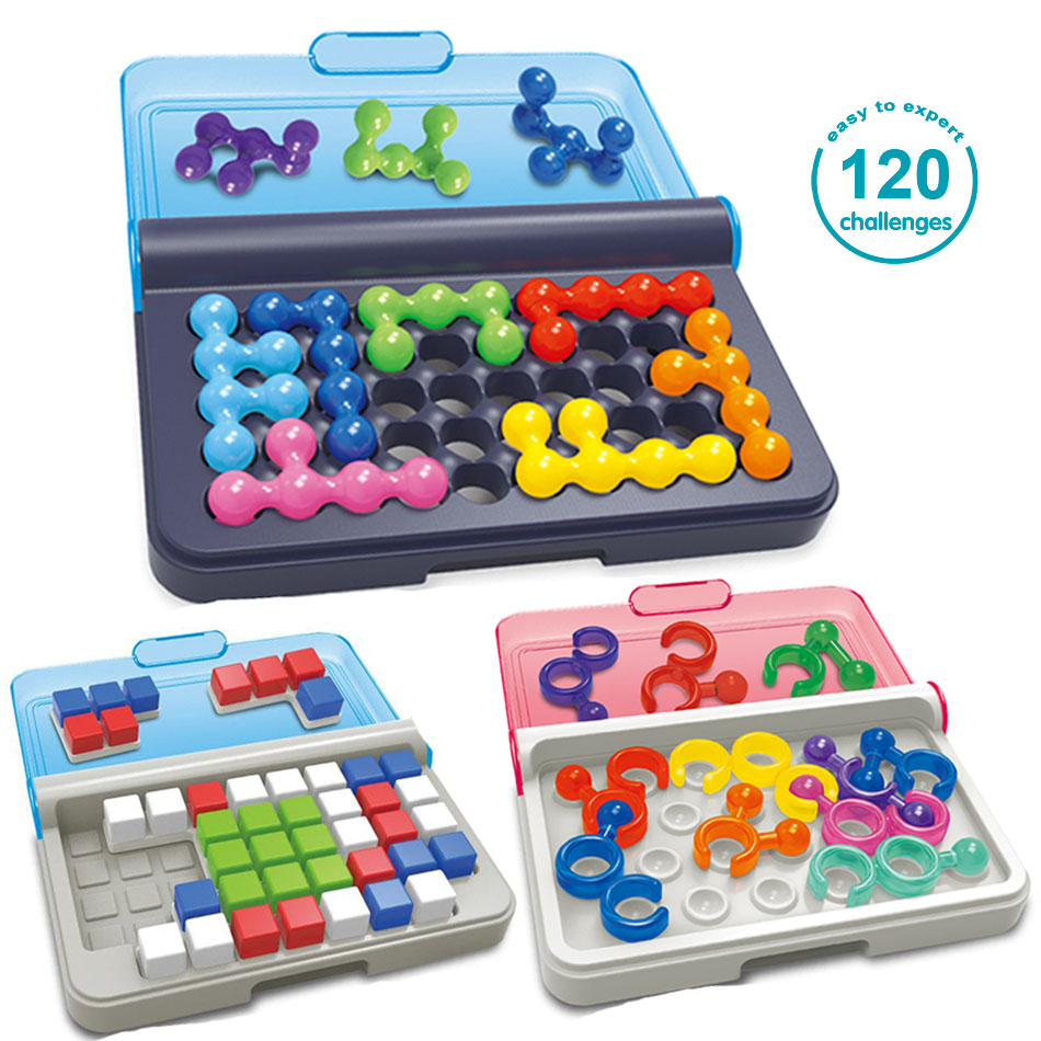 3Style Funny IQ Logic 3D Puzzle Mind Brain Teaser Beads Tangram 120 Challenges Intellectual Game Educational Toy For Kids Adults