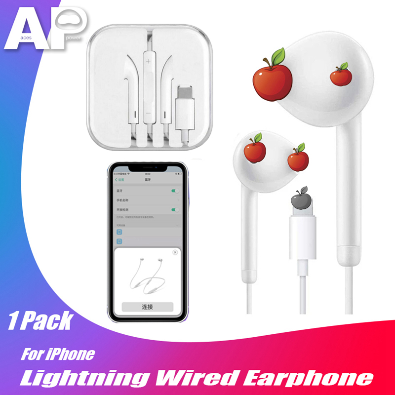Acespower Wired Earphone For IPad IPhone 7 8 Plus X XS MAX XR Bluetooth Earpiece Music Call Answering Stereo IOS Earphones 3.5mm