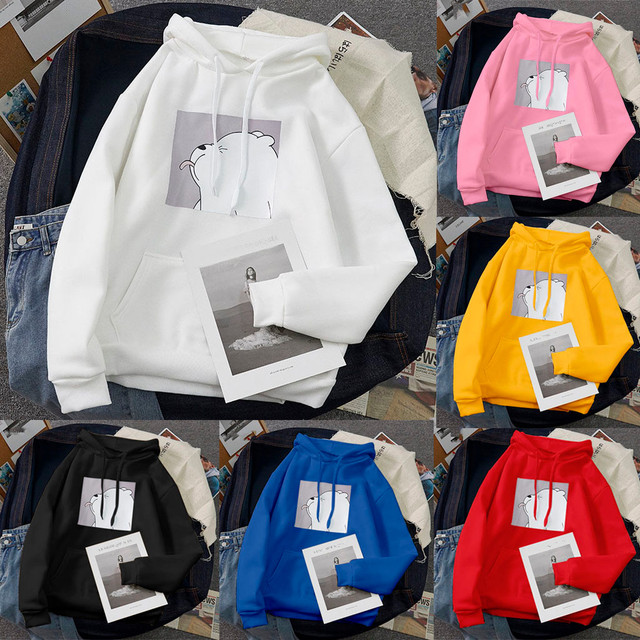 Oversized Women Sweatshirts Tops Kangaroo Pocket Hot Sale Clothes Spring Casual Vintage Pullovers Hoodies Women Loose Tops #3 2