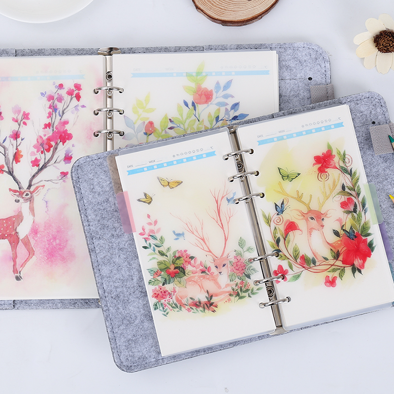 Loose Leaf Notebook Page Index Divider Binder A5/A6 6holes 5pcs/set Diary Book Category Page Filofax Planner Accessory