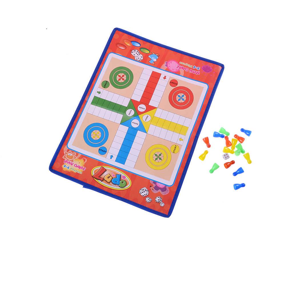 Kids Classic Vlucht Schaakspel Ludo Schaakspel Familie Party Kinderen Fun Board Game Speelgoed Educatief Speelgoed Voor Kinderen Plezier geschenken