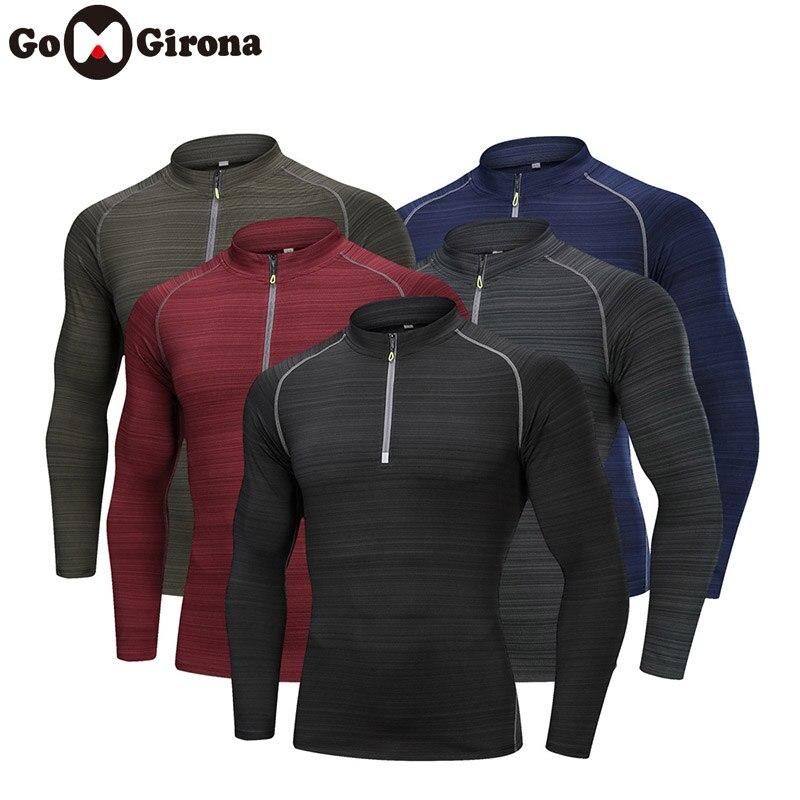 Männer Quick Dry Radfahren Basis Schichten T-shirt Langarm Sport Top Sportswear Männer Fitness Laufen Outdoor Kleidung Training Top