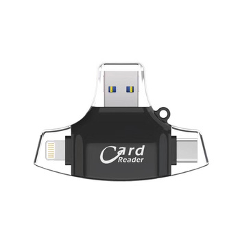 Bekit USB 3.0 Card Reader 4 In 1 Micro SD TF Cardreader Type-C OTG iPhone multi-function Adapter For Smartphone Computer