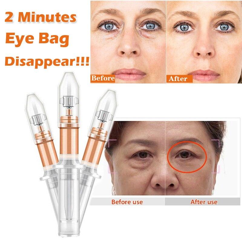2 минуты мгновенный лифтинг жидкий насос крем для глаз Анти отечность морщины эффект длительное удаление мешок для глаз тонкие линии крем