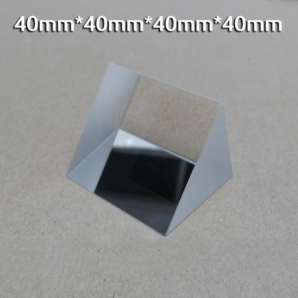 Isosceles Right Triangular Optical Glass Reflective Prism 40*40*40*40*40*40 Mm  Light Experimental Refraction
