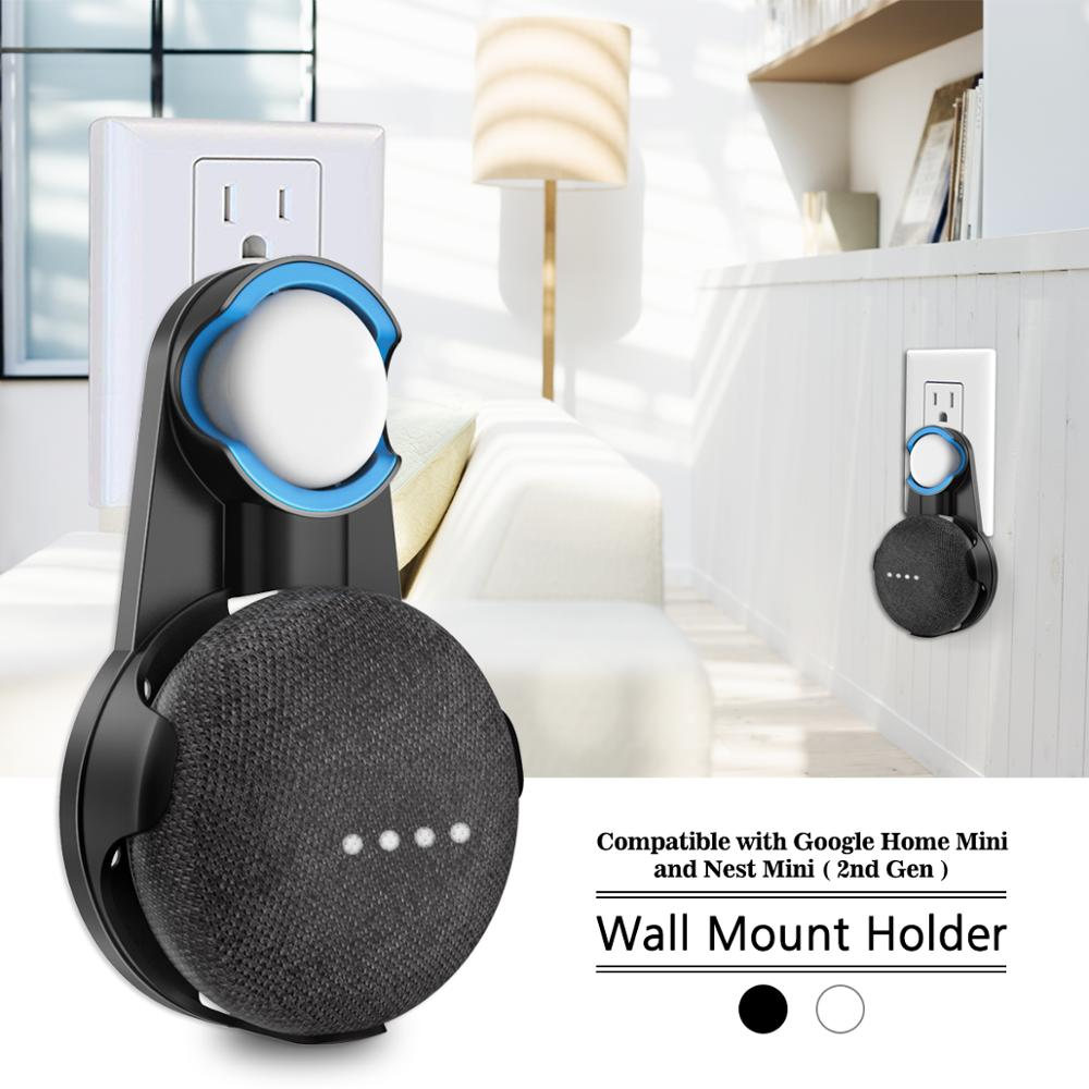 For Google Home Mini Nest Mini Voice Assistant Wall Mount Stand Bracket Kitchen Bedroom Bathroom Office Outlet Wall Mount