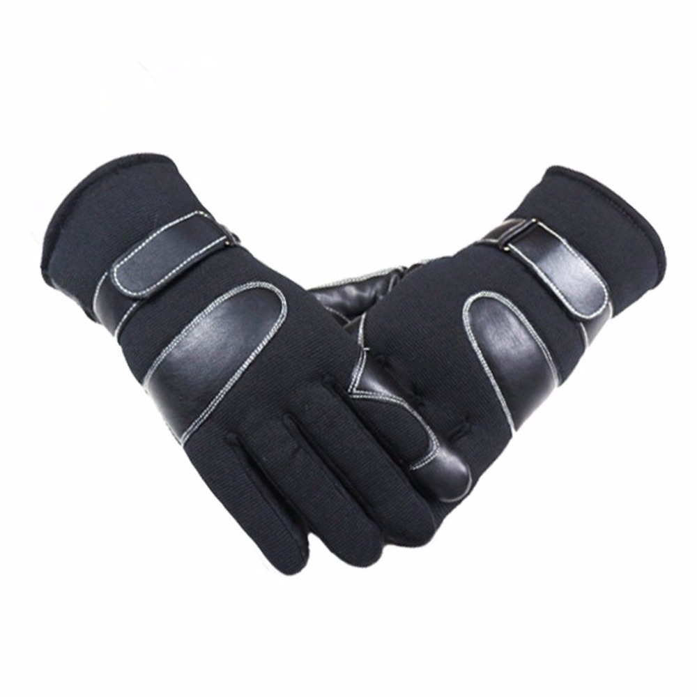 Men Ski Gloves Winter Breathable Plus Velvet Warm Gloves Outdoor Sports Skate Snowmobile Snowboard Mittens Screen Waterproof