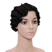SHANGKE Hair Short Curly Synthetic Wigs For Black Women Wig Natural Female Afro American