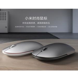 Image 5 - מקורי Xiaomi אופנה עכבר נייד אלחוטי משחק עכבר 1000dpi 2.4GHz Bluetooth קישור אופטי עכבר מיני נייד מתכת עכבר