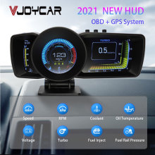 Vjoy Hawk 2.0 Auto Hud Multifunctionele Dashboard Head Up Display OBD2 + Gps Smart Snelheidsmeter Auto Gauge Alarm systeem Turbo Boost