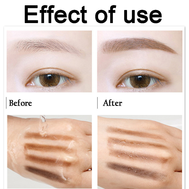 Girls Women Eyeshadow Cake Makeup Tools 2 Color Waterproof Eyebrow Powder Eye Shadow Eye Brow Palette + Brush Eyebrow Enhancer 4