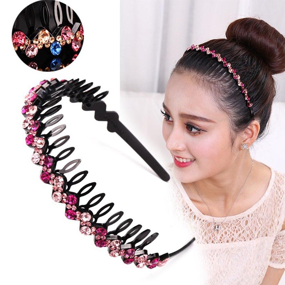 Купить обруч для волос стразы с кристаллами пластиковая повязка обруч