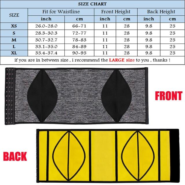 NINGMI Body Shaper Men Waist Trainer Modeling Belt Neoprene Sauna Tummy Trimmer Strap Corset Cincher Slimming Shapewear Brace 5