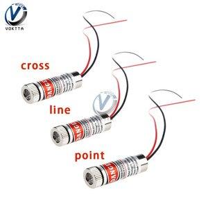 Лазерный модуль с красной точкой/линией/крестом, 650 нм, 5 мВт, 3 в, 5 В