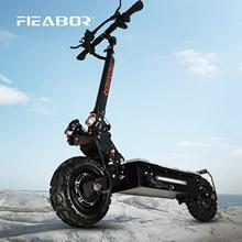 Электрический скутер для взрослых, двойной мотор, Электрический скутер, 11 дюймов, внедорожные шины, быстрая скорость 60 в 5600 Вт