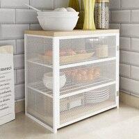 Comprar Armario de cocina armario de almacenamiento para el hogar estante para verduras sobremesa simple y multifunción