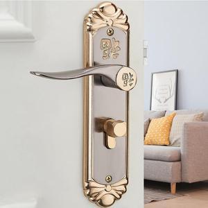 Image 5 - Cerradura inteligente para puerta, manija interior duradera europea, cilindro de cerradura de puerta con llaves, cerradura para manija de puerta