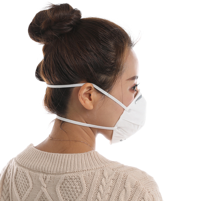 FDBRO Adjustable KN95 Cup Mask Anti Flu Face Mask PM2.5 dust-proof Outdoor Breathable Facial Nonwoven Mask 2