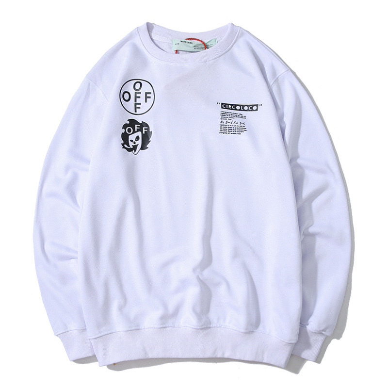 Off-White 19ss Behind Framework Arrowhead Elves Limited Funds Pure Cotton Looped Pile Round Neck Sweater