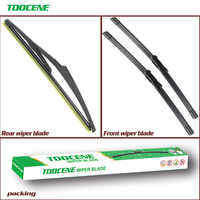 Front And Rear Wiper Blades For Nissan Qashqai J10 2007 2013 High Quality Rubber windshield  Windscreen Car Accessories 24+15+12 Windscreen Wipers     -