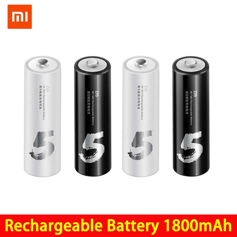 4PCS/lot Original ZMI ZI7 ZI5 AAA <font><b>AA</b></font> <font><b>700mAh</b></font> 1800mAh <font><b>1.2V</b></font> Rechargeable Ni-MH <font><b>Battery</b></font> ZIM Power Bank <font><b>batteries</b></font> image