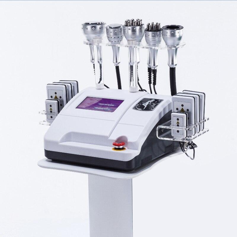 8 en 1 profesional 40K cavitación ultrasónica rf vacío lipo máquina láser Cuerpo Adelgazante lipo láser polar rf cara elevación