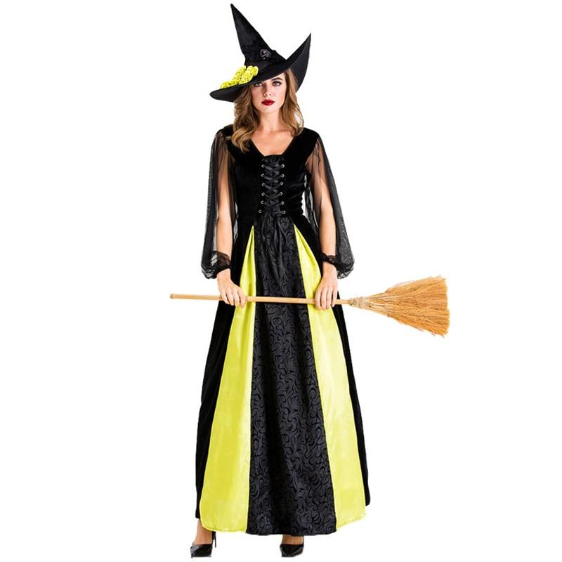 Umorden Women's Goth Maiden Witch Costume Cosplay Fantasia Halloween Costumes for Women