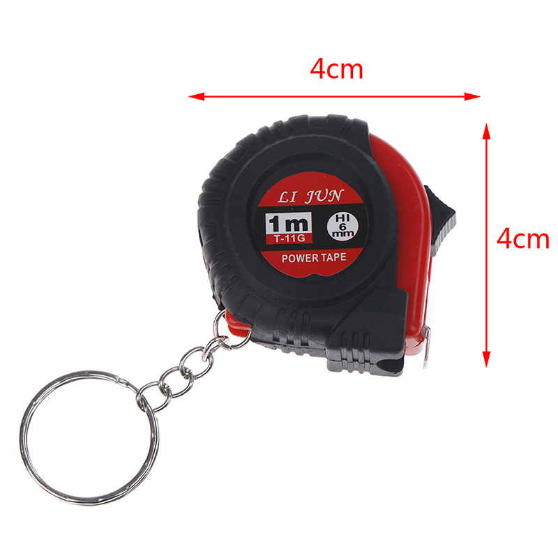 Super Mini Retractable Tape Measure  Portable Pull Ruler 1M Keychain Retractable Ruler Heart-shaped Tape Measure Easy Carry