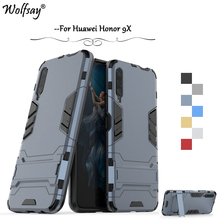 For Huawei Honor 9X Case Luxury Slim Armor Rubber Hard PC Phone Bumper Back Cover Fundas
