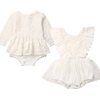 2020 Baby Clothing Newborn Baby Girls Autumn Clothes Flower Lace Floral Solid Dress Bodysuit Outfits Jumpsuits 2020 baby clothing newborn baby girls autumn clothes flower lace floral solid dress bodysuit outfits jumpsuits