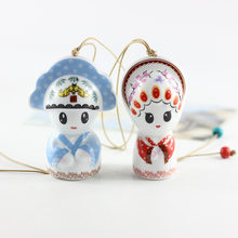 Japanese Vintage Creative Handmade Ceramic People Shape Pendant Personality Female Fashion Cute Backpack Key Accessories Jewelry(China)