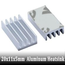 10pcs New 20x11x5mm Aluminum Heatsink for Chip CPU GPU VGA RAM IC LED Heat Sink Radiator Cooler Cooling