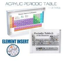 Akrylowy wyświetlacz okresowy z prawdziwymi elementami dzieci nauczanie szkoły dzień nauczyciela prezenty urodzinowe akrylowy stół okresowy