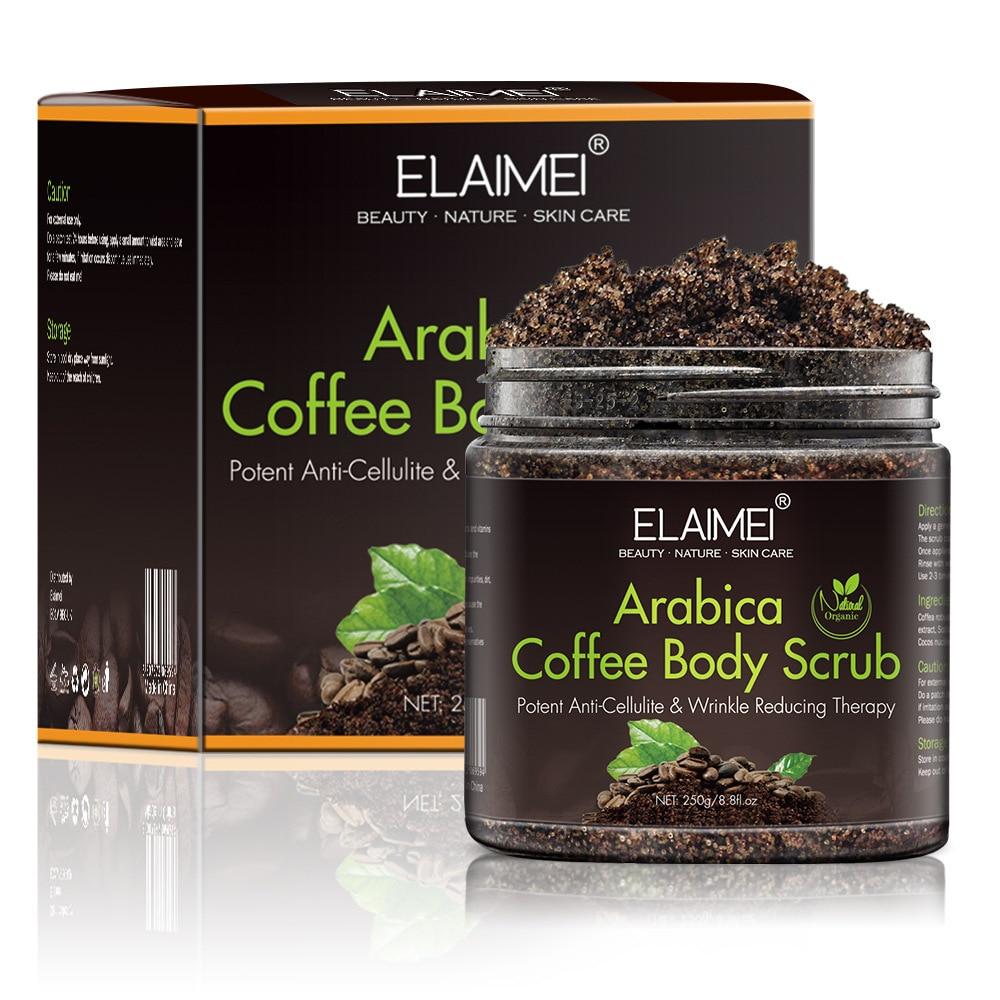 Arabica Coffee Scrub Body Scrub Cream Facial Dead Sea Salt For Exfoliating Whitening Moisturizing Anti Cellulite Treatment Acne