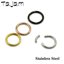Stainless Steel Segment Nose Hoop Ring Ear Lip Nose Septum Piercing Assorted Colors Ear Cartilage Stud Piercing Fashion Jewelry 316l stainless steel segment ring body piercing nipple tragus lip ear nose cartilage septum hoop jewelry