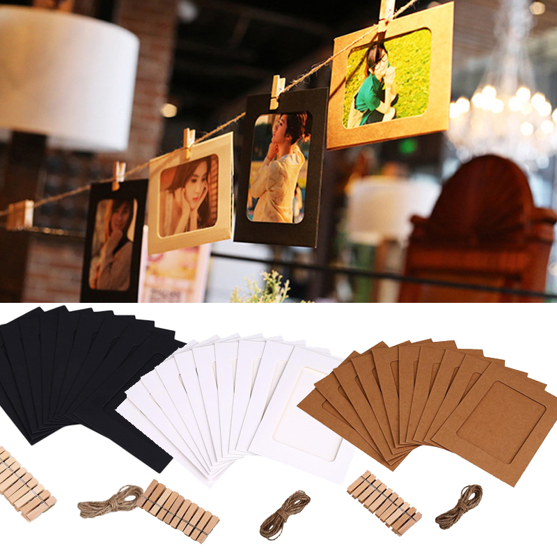 Cobee Hanging Style Clip String Picture Decorative Party Banquet Frame Home Decor Clips