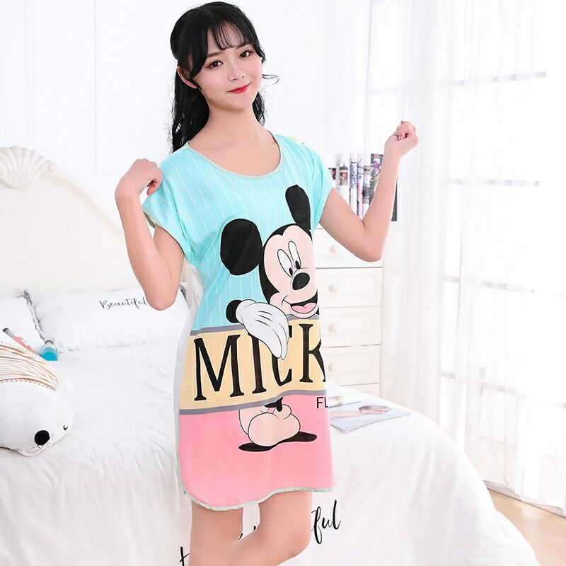 Cartoon Mickey Minnie Printed Short Sleeve Cute Sleepwear Casual Homewear Female Pyjamas Women Pajamas Autumn Pijama Mujer Set