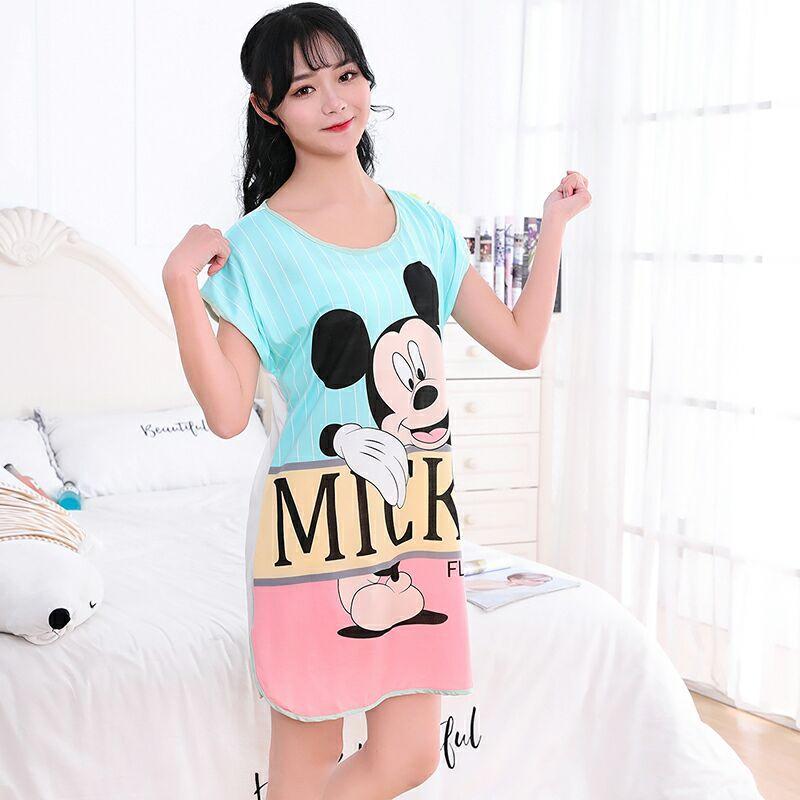 Cartoon Mickey Minnie Printed Short Sleeve Cute Sleepwear Casual Homewear Female Pyjamas Women Pajamas Autumn Pijama Mujer Set