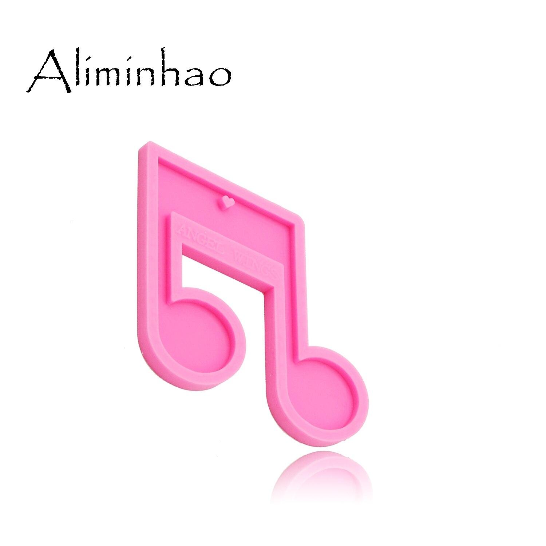 Блестящие силиконовые формы для музыкальных нот dy0174 форма