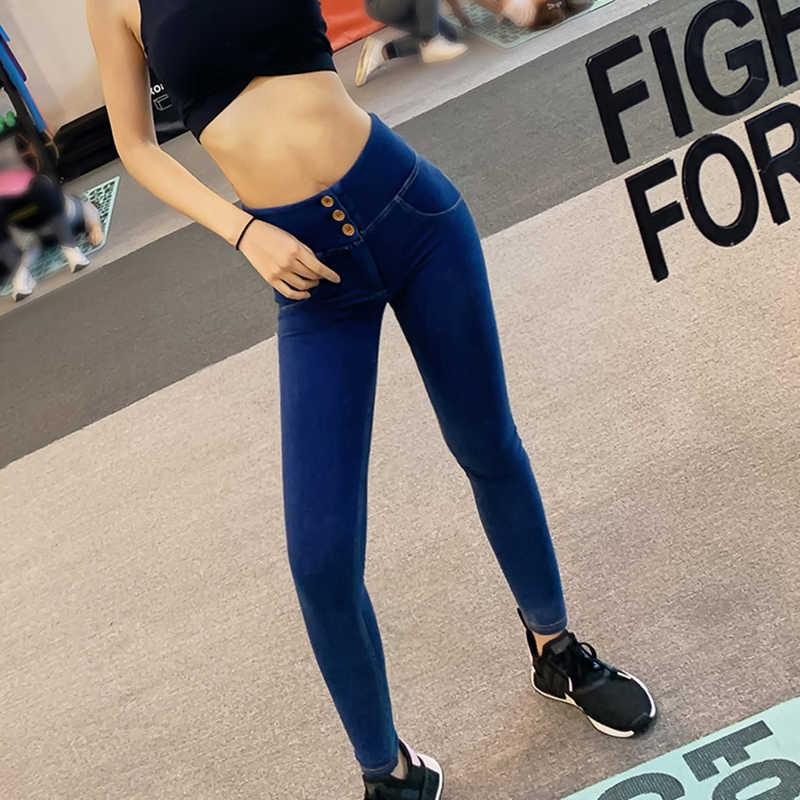 Haute qualité Sexy femmes Jeans décontractés Skinny ascenseur fesses Leggings moulante taille haute Denim pantalon Push Up hanche crayon Jeans en gros