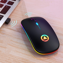 Wireless Mouse Bluetooth 5.0+3.0+2.4G 3 Modes Computer Silent Rechargeable Gaming Mouse