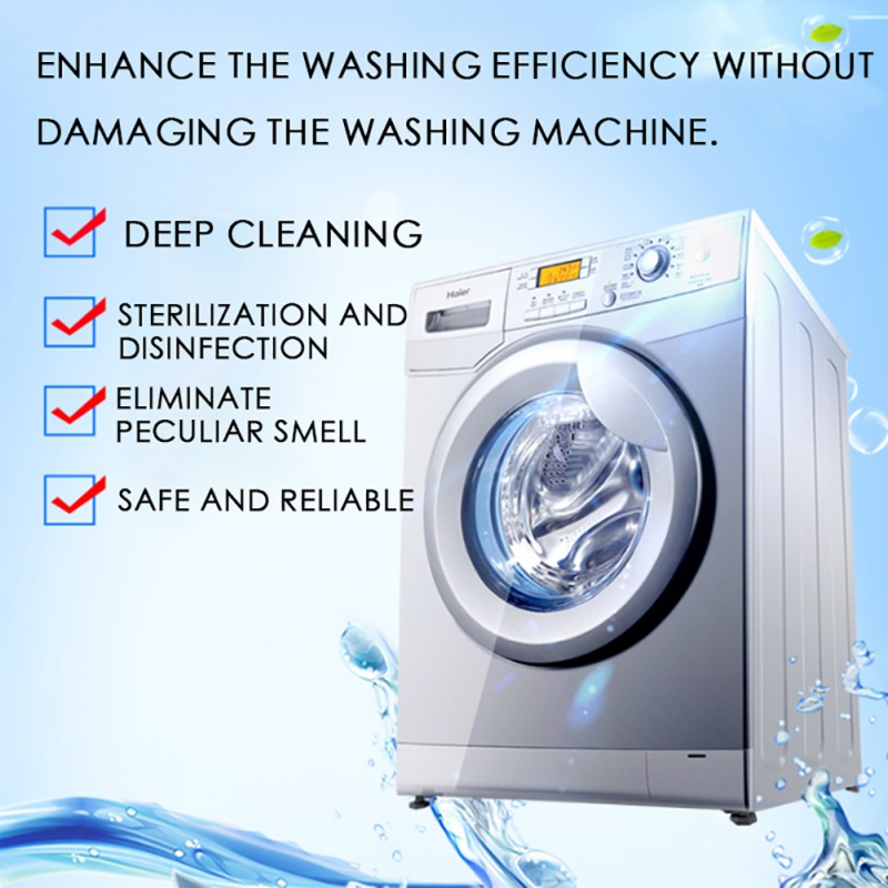 Household Washing Machine Cleaning Tablet Washer Cleaner Descaler Laundry Tank Cleaner