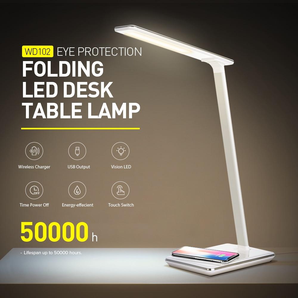 Işıklar ve Aydınlatma'ten Sıra Lambaları'de Esnek LED Masa Lambası Dokunmatik Sensör Kontrol masa ışığı 7 Seviyeleri Işık Parlaklık Yatak Odası Okuma Lambası 220V title=
