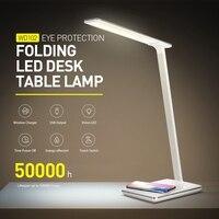 Flexible LED Table Lamp Touch Sensor Control Desk Light 7 Levels Of Light Brightness Bedroom Reading Light 220V