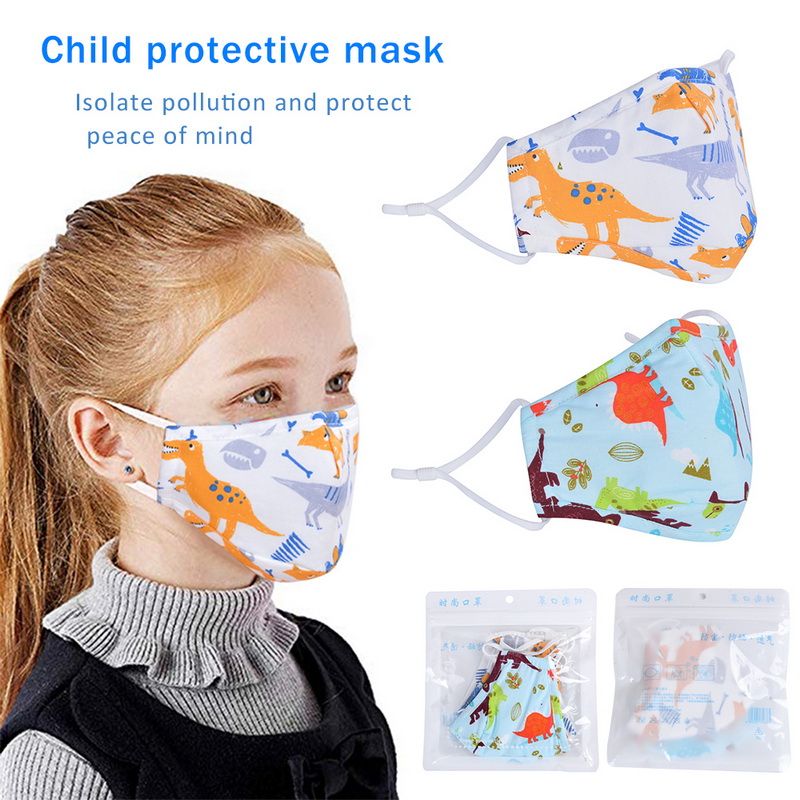 1/5pcs Non-woven Kids Mouth Mask Cartoon Animal Printing Breathable Warm Anti Dust Mask Mouth Cover Outdoor Mask Filter For Kids