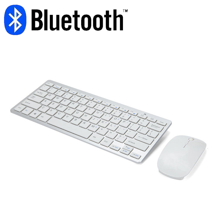 Image 2 - Bluetooth keyboard mouse combo with multimedia function wireless connection for Android/Windows tablet PC computerKeyboard Mouse Combos   - AliExpress