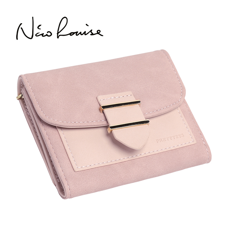 Luxury Brand Women Female Wallet Leather Purse Hasp Coin Purses Holders Id Card Holder For Girls Fashion Patchwork Ladies Wallet