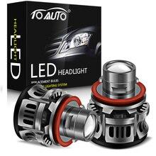 Faro LED para coche, Bombilla Canbus de 15000LM, 50W, H8, H9, H11, 9006, HB4, 9005, HB3, 2 uds.