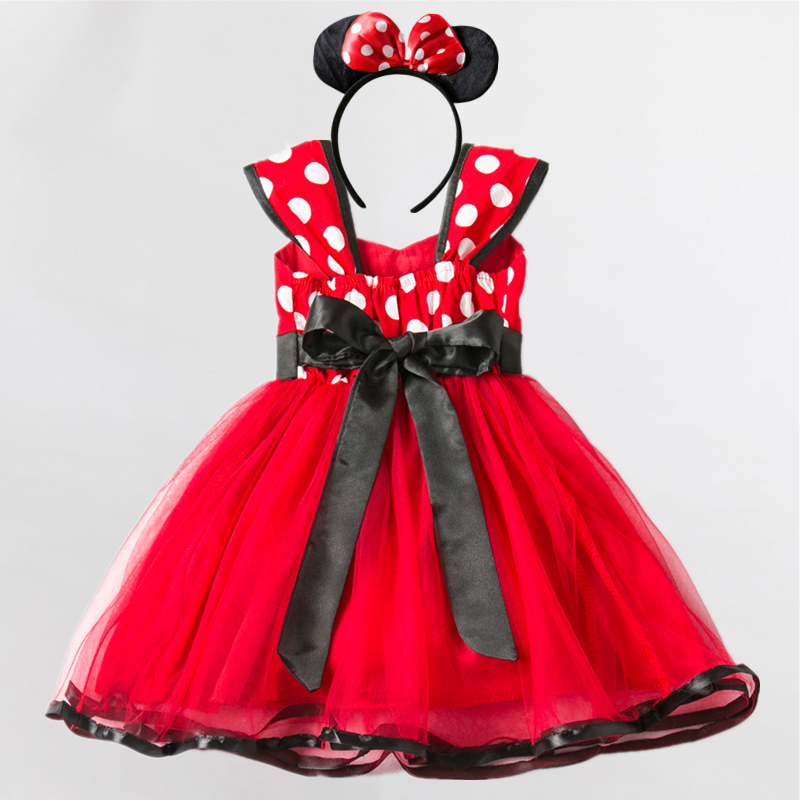 Girls Dress For Baby Kids Cosplay Party Dress Up 1-5 Years Toddler Children Polka Dots Birthday Princess Costume 2